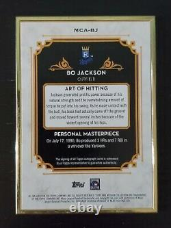 /15 On Card Auto Bo Jackson 20014 Topps Museum Collection Gold Frame Autograph