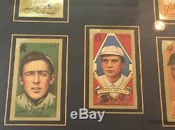 1911 T205 Gold Border Polar Bear Tobacco Baseball Card Set Framed 16 Cards