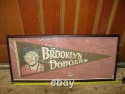 1950 Brooklyn Dodgers New York Dem Bums Vintage Pennant MLB Frame