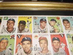 1954 TOPPS SI baseball card UNCUT SHEET professionally MATTED/ FRAMED mint