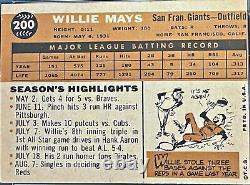 1960 Topps #200 Willie Mays San Francisco Giants PSA 5 EX HOFer SF Estate Find