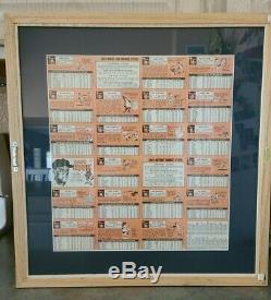 1969 Topps Baseball Tom Seaver Auto On Uncut 24 Card Sheet Custom Framed Look