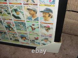 1979 TOPPS baseball card UNCUT SHEET OZZIE SMITH RC proff FRAMED +BONUS SHEET