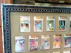 1993 Sp Derek Jeter Bgs 9.5 1980 Topps Rickey Henderson Bvg Custom Framed Bgs 10