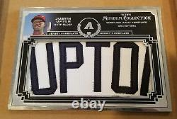 1/1 Jumbo Nameplate Justin Upton GU Jersey Patch Letter Topps Museum Framed 2013