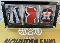 1/1 Justin Verlander 2020 Topps Triple Threads Jumbo Letter Number Logo Patch