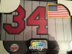 2002 KIRBY PUCKETT Absolute Signing Bonus Framed 8 x 10 Jersey Patch Auto #26/34