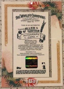 2006 Topps Allen & Ginter Tony Gwynn Framed Auto Autograph /50