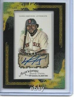 2008 Allen & Ginter DAVID ORTIZ Autograph Red Sox Auto Framed Mini SP #AGA-DO