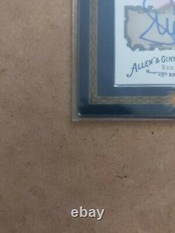 2008 Topps Allen & Ginter Framed Serena Williams Autograph Blue Auto