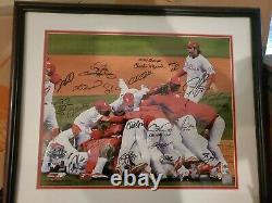 2008 World Series Champion Phillies Team Signed Photofile 16 x 20 Photo Framed