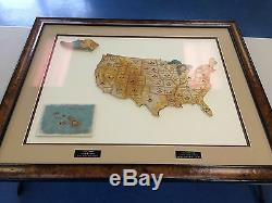 2011 Topps Allen & Ginter Complete State Relic Set /50 Framed with Museum Glass