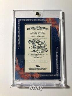 2011 Topps Allen & Ginter George W. Bush Baseball Framed Auto Autograph SSP