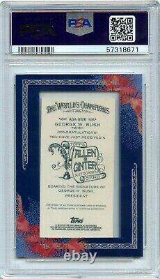 2011 Topps Allen & Ginter George W. Bush Baseball Framed Auto PSA 10 POP 6 Rare