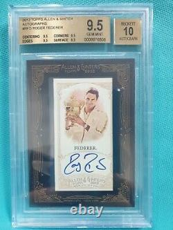 2012 Topps Allen Ginter Roger Federer Auto Bgs 9.5 10 Framed Autograph Tennis Gf