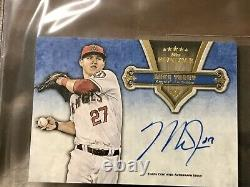 2012 Topps Five Star BRYCE HARPER RC MIKE TROUT AUTO DUAL AUTOGRAPH /10 BGS 9 MT