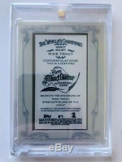 2013 Topps Allen & Ginter Auto Framed Mini Mike Trout 25/31 SSP Angels