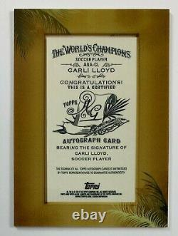 2014 Topps Allen & Ginter Carli Lloyd Soccer Player Mini Frame Auto Card MAR2