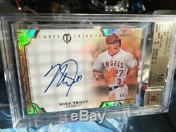 2015 Topps TRIBUTE MIKE TROUT Framed Autographs Orange BGS 10 PRISTINE