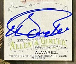 2016 Allen & Ginter CANELO ALVAREZ Auto On Card Framed Mini Card Autograph