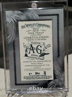2016 Mike Trout Allen & Ginter X Mini Black Framed Silver Ink Auto Rare