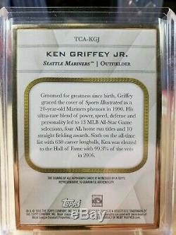 2016 Topps Transcendent Ken Griffey Jr Gold Framed Auto Purple 9/10 MARINERS