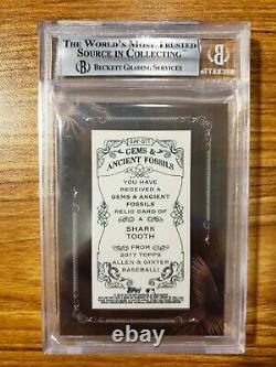 2017 Topps Allen and Ginter Framed Mini Gems and Accient Fossil Relics #GAFSTT S