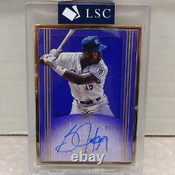 2017 Topps Definitive GOLD FRAMED Bo Jackson Royals ON CARD Auto #03/10