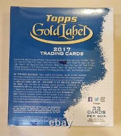 2017 Topps Gold Label Baseball Factory Sealed Hobby box FREE SHIP WORLDWIDE