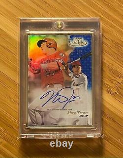 2017 Topps Gold Label Framed Autograph #1/5 MIKE TROUT On-Card Auto ANGELS