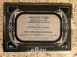 2017 Topps Museum Noah Syndergaard Hat Patch Framed Auto Mets Dynasty 1/1