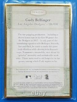 2017 Topps Transcendent CODY BELLINGER Gold Framed /25 Rookie RC Auto Autograph