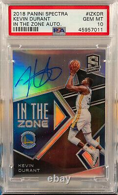 2018 Panini Spectra In the Zone Autographs Kevin Durant Auto 47/49 PSA 10