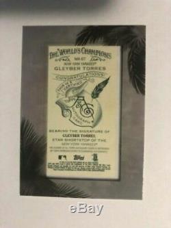 2018 Topps Allen & Ginter X Gleyber Torres Silver Framed Mini Auto Card #'d /23