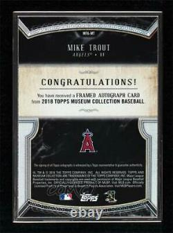 2018 Topps Museum Collection Framed Silver /15 Mike Trout #MFA-MT Auto