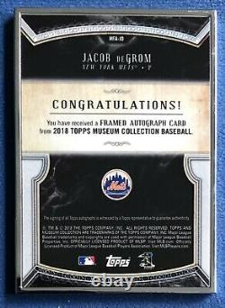 2018 Topps Museum Collection, Jacob DeGrom Silver Framed Auto Autograph #d /15