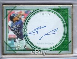 2018 Topps Transcendent Auto RONALD ACUNA JR. Gold Framed RC AUTOGRAPH 10/15 SSP