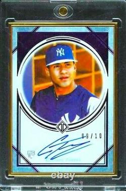 2018 Topps Transcendent PURPLE Gleyber Torres Autograph RC Gold Frame AUTO 9/10