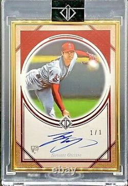 2018 Topps Transcendent Rookie SHOHEI OHTANI Gold Metal Framed RC AUTO RED 1/1