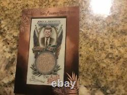 2019 Topps Allen and Ginter Mini Framed Presidential Pieces, KENNEDY 04/25