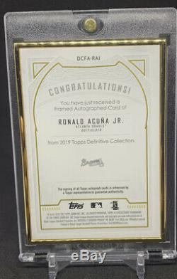 2019 Topps Definitive Collection Ronald Acuna Jr Gold Frame Auto /30 Braves MVP