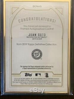 2019 Topps Definitive Juan Soto Sp Auto Autograph Gold Framed 28/30 Nationals