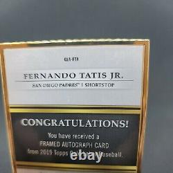 2019 Topps Gold Label Framed Rookie Card Auto Fernando Tatis Jr RC Autograph