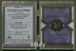 2019 Topps Museum Collection Ichiro & Shohei Ohtani Framed Dual Patch Auto #1/1