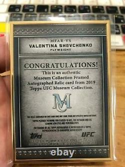 2019 Topps UFC Museum Valentina Shevchenko GOLD FRAME AUTO&Relic card /10