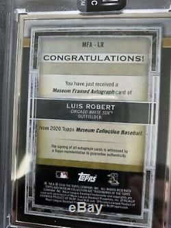 2020 MUSEUM COLLECTION LUIS ROBERT SILVER MUSEUM FRAMED ON-CARD AUTO RC #d 12/15