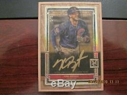 2020 TOPPS MUSEUM BASEBALL SSP WOOD FRAMED GOLD AUTOGRAPH #1/1 CUBS Kris Bryant
