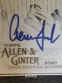 2020 Topps Allen & Ginter Aaron Judge Black Framed Auto SSP #07/25 Yankees Rare