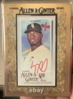 2020 Topps Allen & Ginter LUIS ROBERT Red Ink Auto 1/10 FRAMED RC Hand Numbered