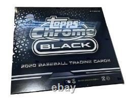 2020 Topps Chrome Black Baseball Factory Sealed Hobby Box -NEW